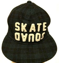 Skate Squads Skateboard Adult Unisex Green Black Plaid Cap One Size - $29.69