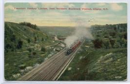 Twentieth Century Limited Railroad Train Northern Viaduct  Albany NY pos... - $6.39