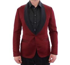 Red burgundy slim fit smoking blazer - $883.80