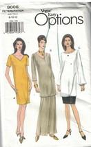 9006 Non Tagliati Vogue Cartamodello Misses Vestibilità Comoda Abito Tun... - $4.88