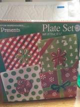"Boston Warehouse  Plate Set of 4 Presents 2005 6 1/2"" - $18.69"