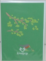 Lovepop LP1791 Robin Pop Up Card Slide Out Note White Envelope Cellophane Wrap image 1
