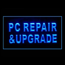 130017B PC Repair & Upgrade Recovery Computer Display Accessible LED Light Sign - $18.00