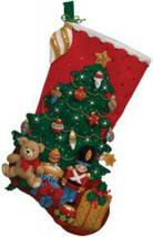 Bucilla Felt Stocking Kit, Under the Tree, 18in Embroidery, XMAS, Christmas - $26.99