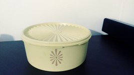 Vintage yellow Tupperware canister 1204 with lid - $13.00