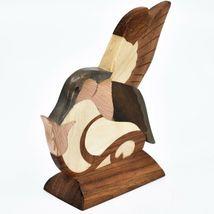 Northwoods Handmade Wooden Parquetry Hummingbird Bird Sculpture Figurine image 3