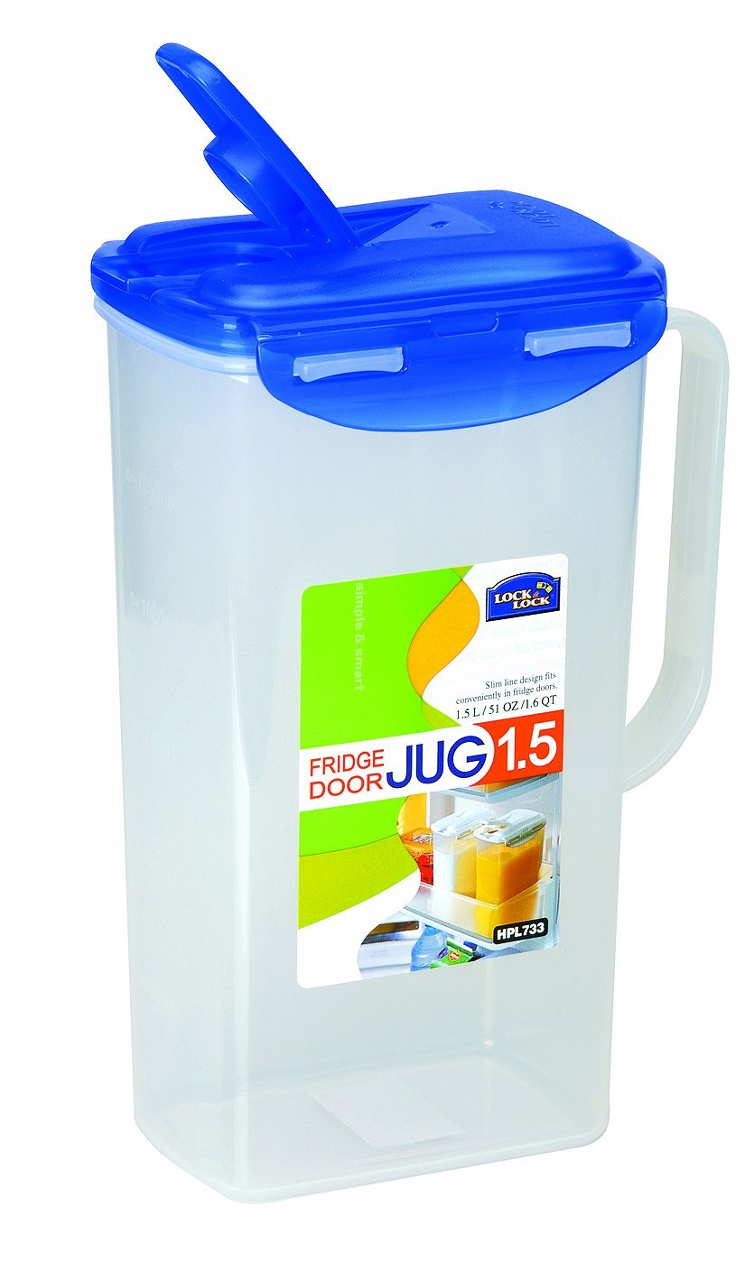 Lock&Lock 51-Fluid Ounce Water Jug with Flip Top Lid, Polypropylene, 6.2-Cup - $21.77