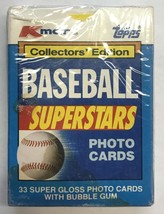 1990 K-MART BASEBALL SUPERSTARS - 33 SUPER GLOSS TOPPS CARDS  MINT SEALE... - $17.96