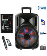 beFree Sound 12 Inch 2500 Watt Bluetooth Portable Party PA Speaker With ... - $108.42