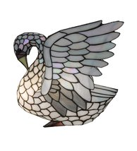 "Meyda Tiffany 10282 Tiffany Swan Accent Lamp, 14"" H - $306.00"