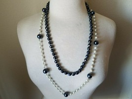White House Black Market Bead Necklace Gunmetal Faceted & Matching Bonus - $40.45