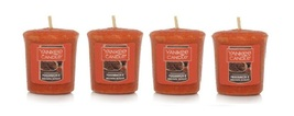 Yankee Candle Persimmon & Brown Sugar Votive Candle - Lot of 4 - $17.99