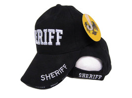 Embroidered Black Sheriff Police Law Enforcement Military Premium Hat Cap (RUF) - $9.11
