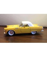 1955 Ford Thunderbird Hardtop  Diecast Car Yellow White Toy Scale 1:32 S... - $16.82