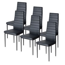 6 Piece Dining Chair Set Side Kitchen Metal PU Leather Upholstered Livin... - €197,87 EUR