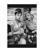 Marilyn Monroe Audrey Hepburn Tattoo Wall Poster Art 24x36 Free Shipping - $14.50
