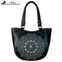 Montana West Embroidered Pattern, Laser Cut-out, Concho Collection Tote Handbag - $61.99