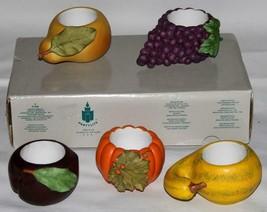 PARTYLITE Harvest Medley Fruits Vegetables Votive Candle Holders NIB Retired - $22.99