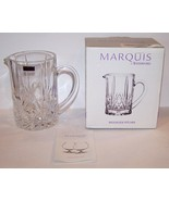 STUNNING SIGNED MARQUIS BY WATERFORD 40010684 CRYSTAL BROOKSIDE PITCHER ... - $75.73