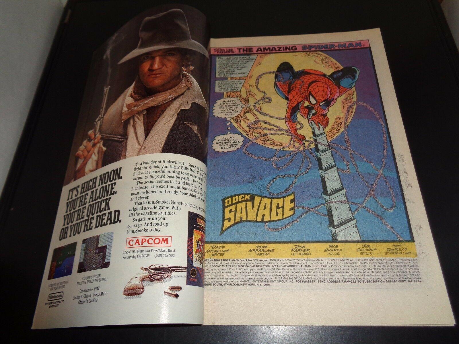 Amazing Spider-Man #303 Marvel Comic Book NM (9.0) Condition 1988 Todd McFarlane