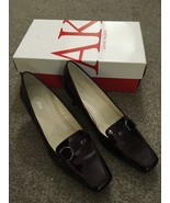 New Anne Klein Iflex AKFelder Wine Patent Leather Upper Shoes, Size 8 - $49.99