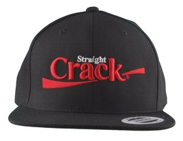 Dissizit Straight Crack Yupoong Wool Blend O/S Cap Black Red Embroidered Hat NWT image 2