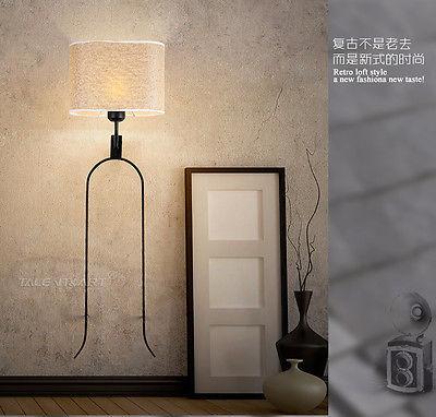 18th Tuning Fork Sconce E27 Light Wall Lamp Home Loft Wallmount Lighting Fixture