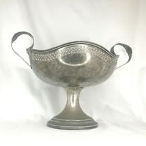 "Silver Art Deco Pedestal Bowl w 2 Handles Vintage EPNS by Lehman Bros. 14"" - $266.05"