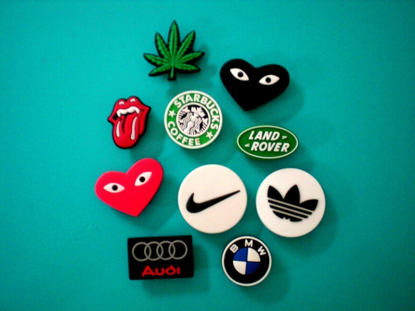 Clog Jibbitz Charm Shoe Plug Button Accessories Sports Car Emblem Symbol