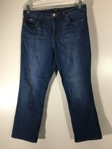 Women's Jeans Size 12 Medium Blue Nine West Wide Cuff Capri Embellished ... - $16.82