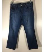 Women's Jeans Size 12 Medium Blue Nine West Wide Cuff Capri Embellished ... - $16.82