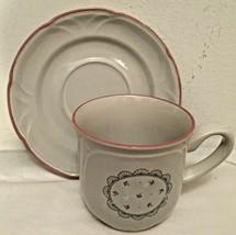 Victorian Cup & Saucer Set Japan Floral Design 1988 Dinnerware Cups Saucers - $8.90