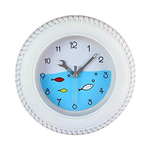 Panda Superstore Lovely Fishes Tire Shape Wall Clock Fashion Look Home Decoratio