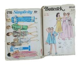 Sewing Patterns 60s Woman 12 Pajama PJ Sleep Lounge Clothes Robe Vintage - $24.49