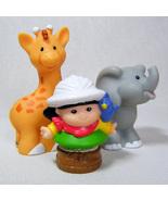 Fisher Price Little People SONYA LEE from Musical Zoo Train w Giraffe & ... - $7.00