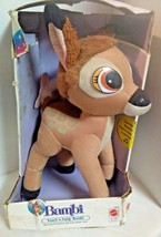 Bambi Touch and Song Plush Toy By Mattel New In Box, Ages 6-24 Months 1993 - $21.03