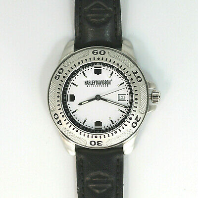 Primary image for Harley Davidson Vintage Rare Diver Style Unworn Date Easy Read Dial, Watch! $139