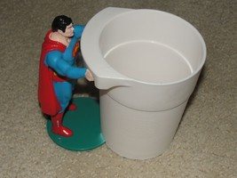 1987 Superman Burger King Kids Club Drinking Cup Vintage figurine toy - $5.00