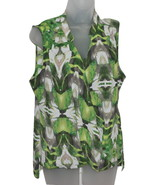 Women's Petite Sleeveless Top by Alfani Moss Green Faux Abstract 12P - $18.75