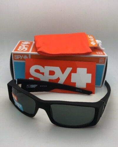 New SPY OPTIC Sunglasses HIELO Soft Matte Black Frames with Grey-Green Lenses