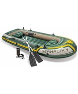 Intex 68351np-Seahawk 4 Inflatable Boat with Oars 351 x 145 x 48 cm - $505.60
