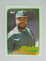 Dave Parker Oakland A's 1989 Topps Baseball Card Number 475 - $0.98