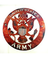 """16"""" US army logo american military family home copper mix USA STEEL Meta... - $84.15"""