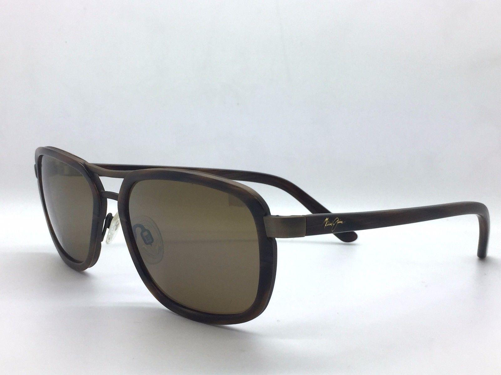 New Maui Jim Sunglasses Wanderer Matte Expresso HCL Bronze H289-19M