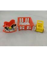 Fisher Price Little People Orange Yellow Nursery Stroller Rocking Horse ... - $8.95