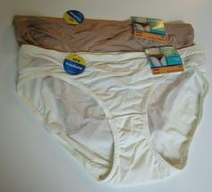 e09ff61aa658 2 Vanity Fair Breathable Luxe Bikini Style 18185 Size 7 Coconut White Beige  - $13.81