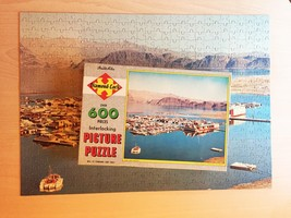 "Vintage 50s Warren Diamond Lock Picture Puzzle- #600 ""Lake Mead Marina"""