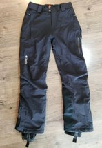 Columbia Titanium OmniTech Ski Pants Mens S Black Waterproof Breathable ... - $36.61