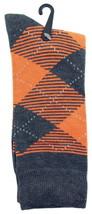 Goldstar Mens Argyle Socks Casual Gray Orange Diamonds Cotton Blend Crew... - $12.95