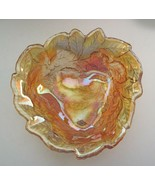 Indiana Glass Loganberry Vintage Candy Dish Bon Bon Bowl Marigold Carniv... - $10.88